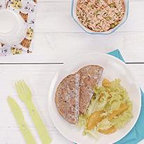 Tortillas de lentejas con arroz