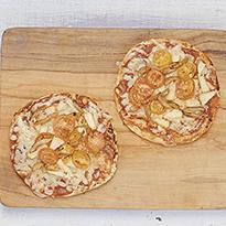 Mini pizzas con pan arabe