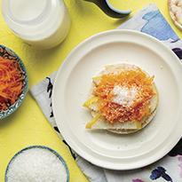 Tostada de arroz con zanahoria